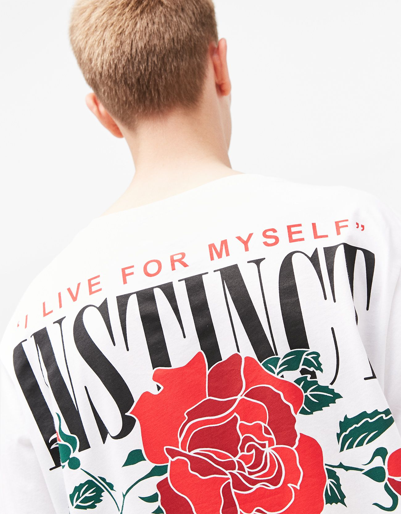 T shirt printing at white rose - T Shirt With Skull Rose Print On Back Discover This And Many More