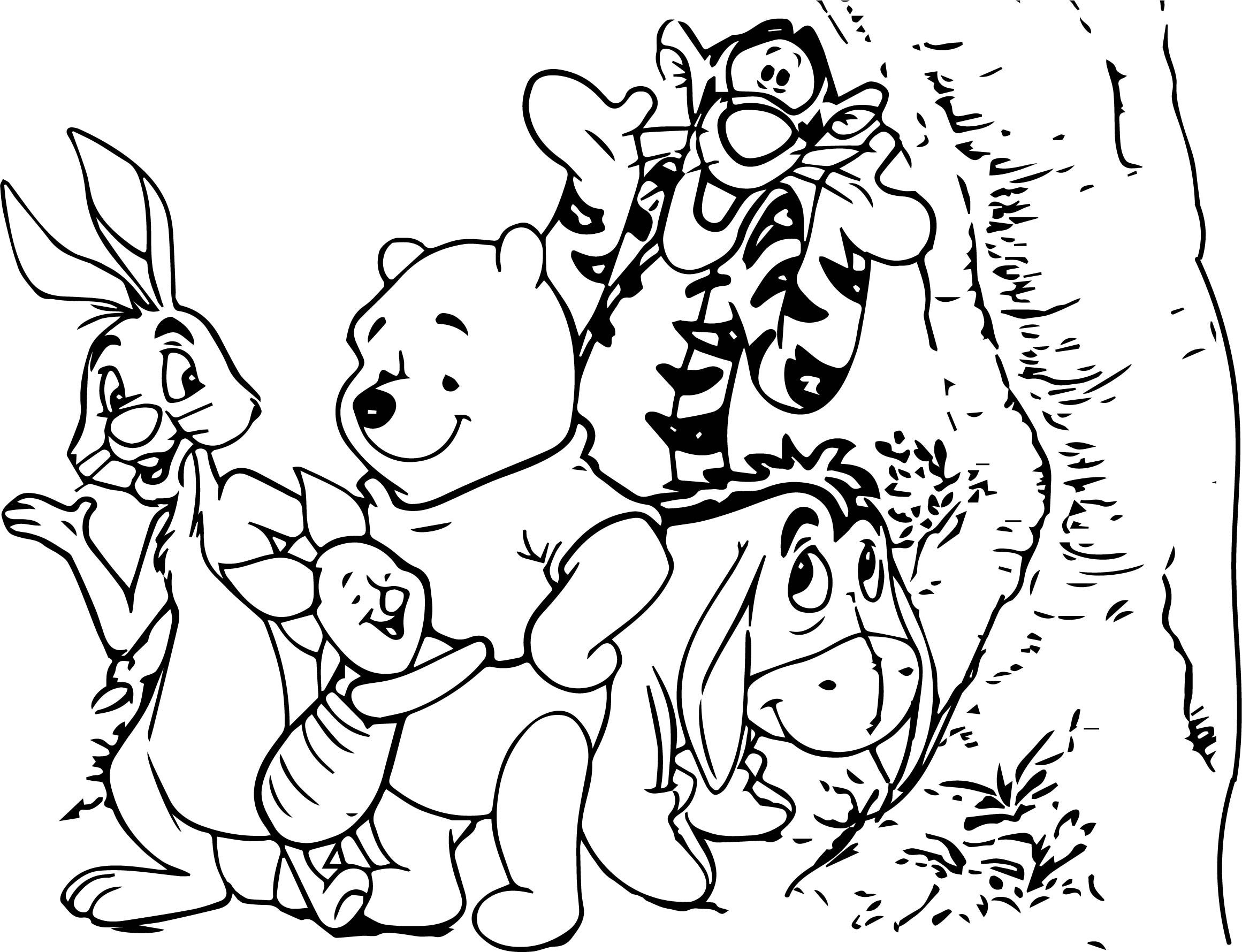 Nice Baby Winnie Pooh And Friends Characters Free Coloring Pages