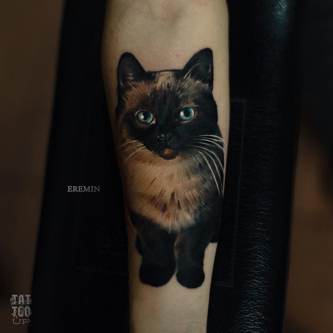 Tattoo Artist Sergey Eremin Cat Tattoo Cat Tattoo Designs Cute Cat Tattoo