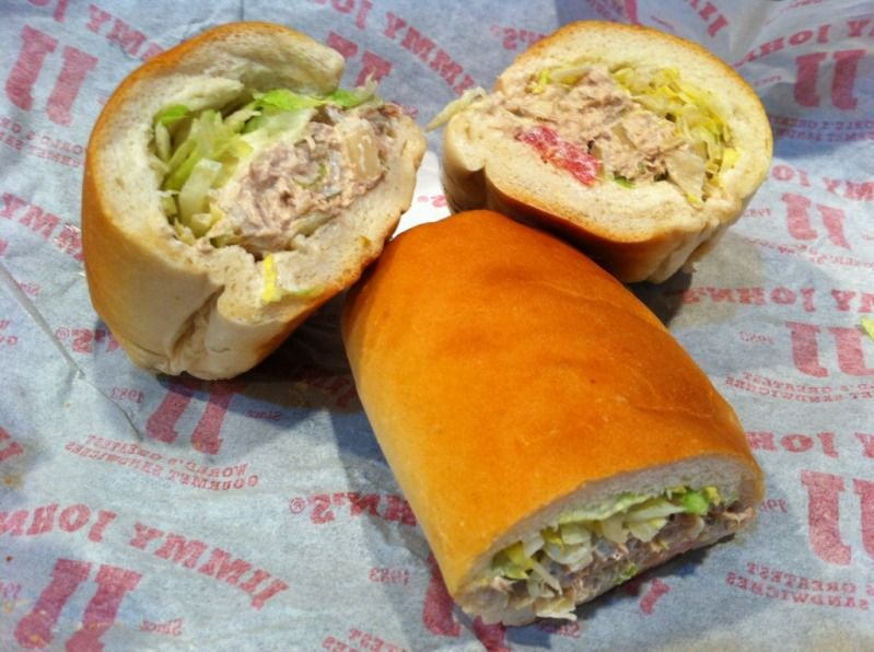 Jimmy John S Tuna Salad Recipe Take About Six 5oz Cans Of Chicken Of The Sea Chunk Light In Water Tuna And Drain Recipes Jimmy Johns Tuna Salad Recipe Food