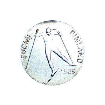 Suomi juhlaraha 100 markkaa, Lahden MM-kilpailut (1989)