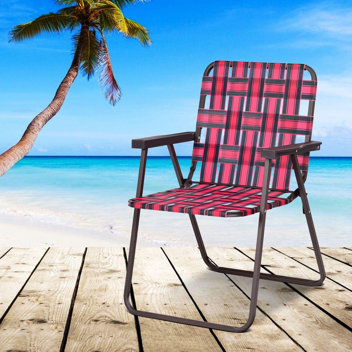 Costway 6 Sedie Pieghevoli Per Spiaggia Da Campeggio Con Braccioli Sku Op3642re Nel 2020 Sedie Sedie Pieghevoli Campeggio
