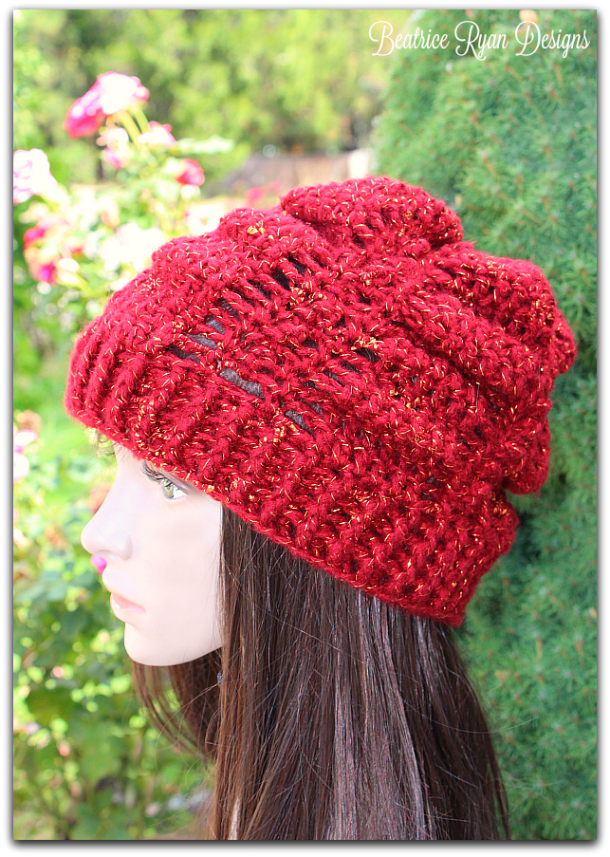 September Jewel Slouchy Hat Free Crochet Pattern from Beatrice Ryan ...