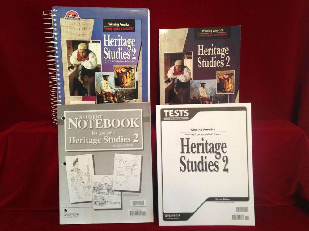 Bob Jones Heritage Studies 2 Student Bk & Notebook, Teacher & Tests, 2nd…