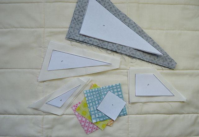 Quilting How To Paper Piecing With Less Waste Paper Piecing