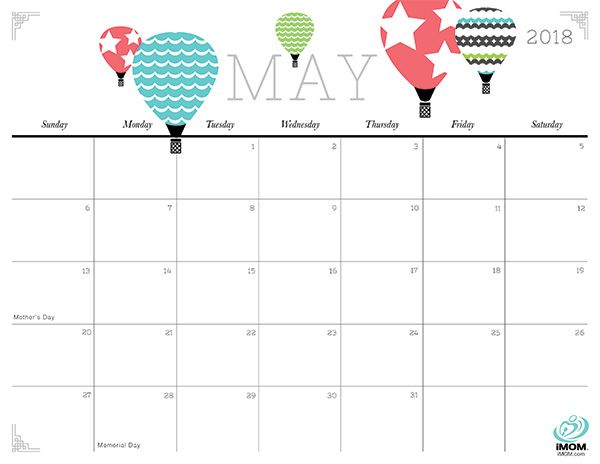2020 Crafty And Cute Printable Calendar For Moms Free Printable