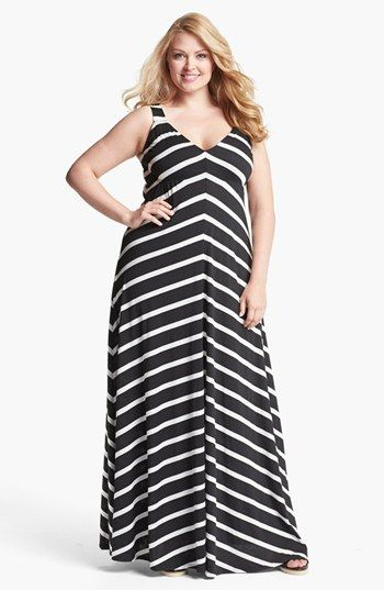 Eight Sixty Stripe Maxi Dress (Plus Size) | Nordstrom | Plus size ...