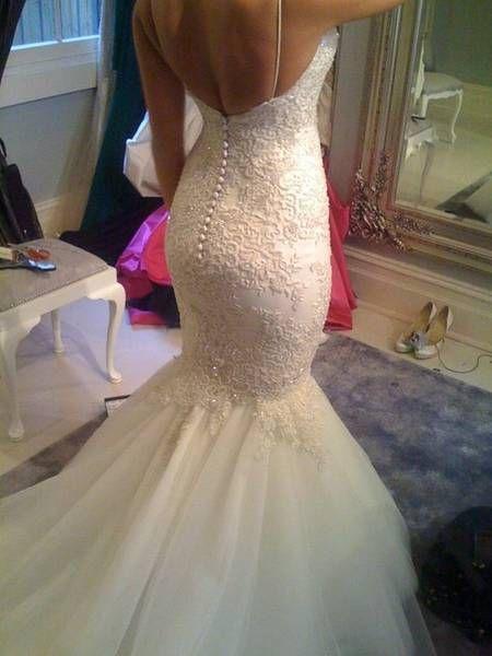 Wedding dress- mermaid/fishtail- liade couture/Steven khalil Como ...