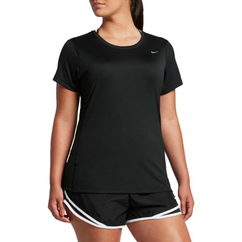 69c339772 Nike Women's Plus Size Miler Running T-Shirt, Size: 2XL, Black ...