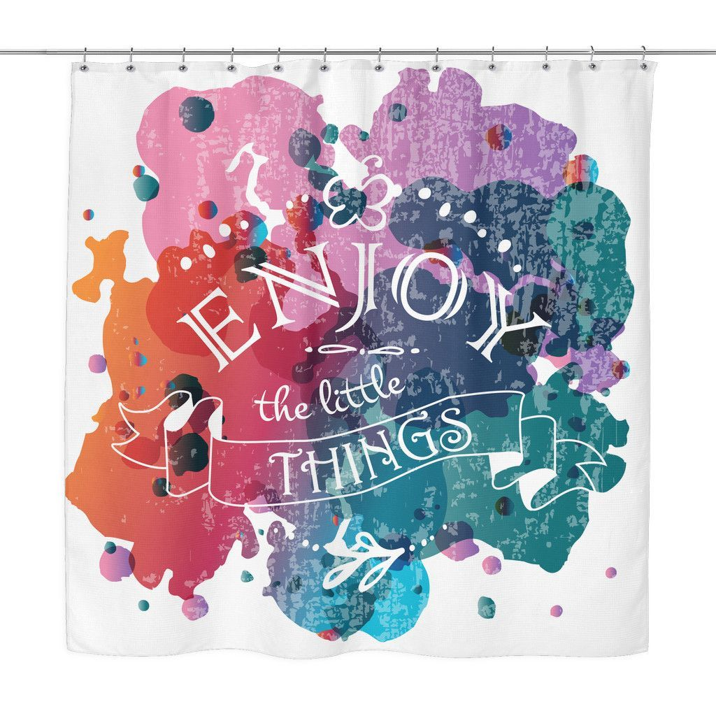 Fex Quotes Enjoy The Little Things' Motivational Quotes Colorful Shower