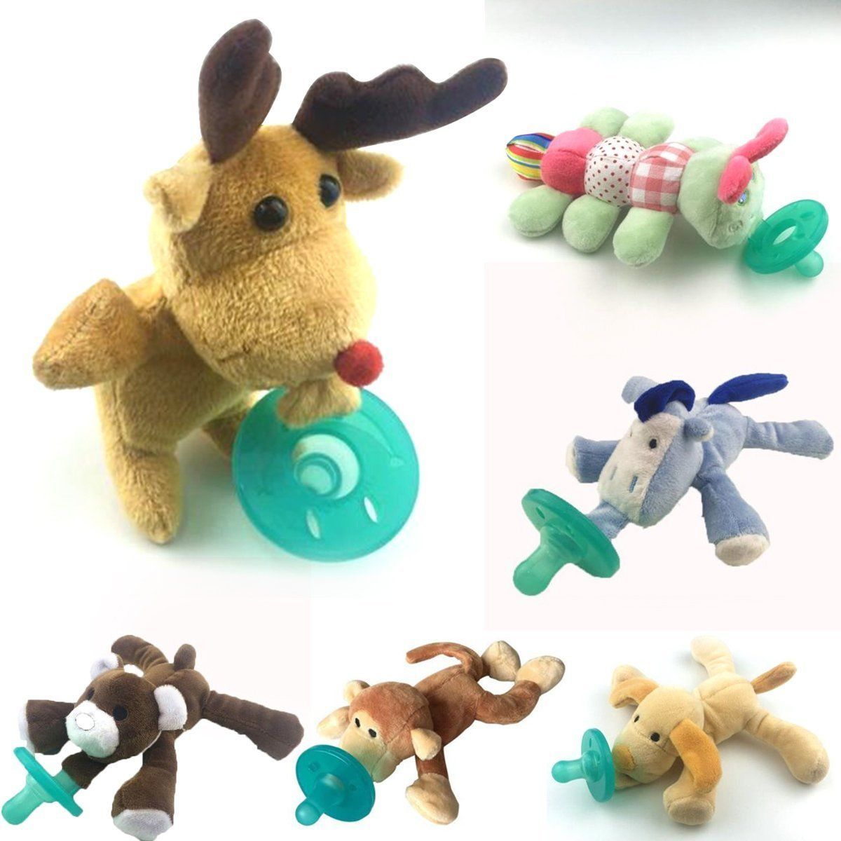 Cute Animal Plush Toy Infant Baby Soothie Pacifier 0-6 Months 2017