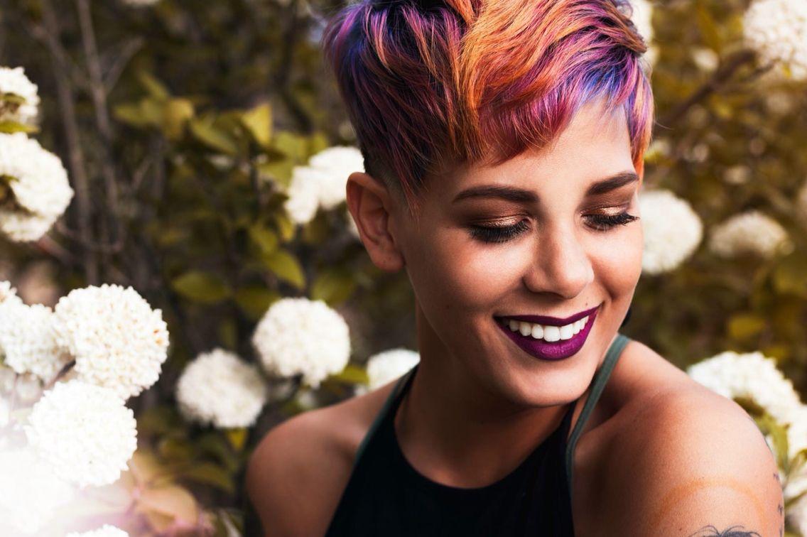 Pixie Cut Orange Hair Pink Hair Purple Hair Undercut Buzzcut Fort