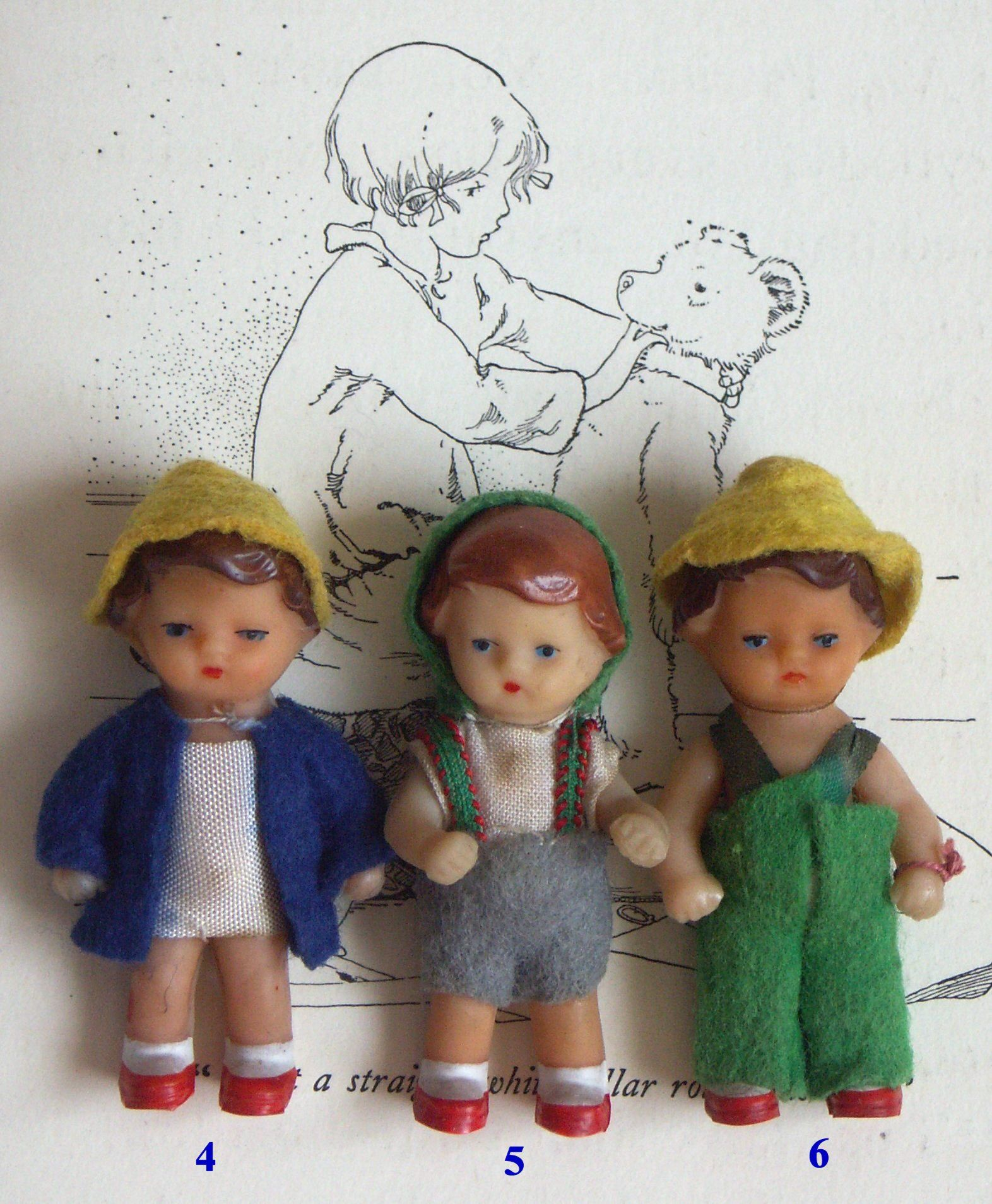 Reproduction Vintage Dutch Girl and Boy Dolls Sewing Pattern