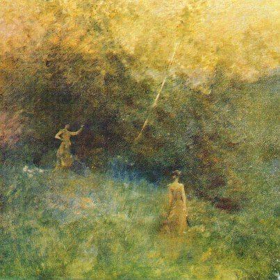 Thomas Dewing - La betulla bianca (1896)