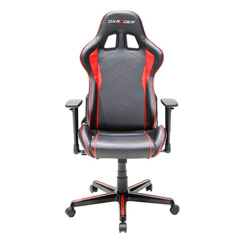 Dxracer Black Red Ergonomic Office Chairs Executive Desk Chair High Back Leather Fe08nr