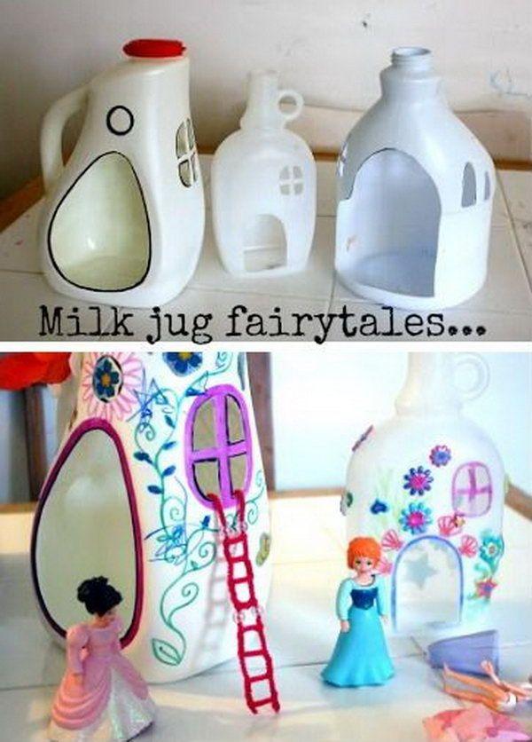 19 DIY Plastic Bottle Fairy Houses