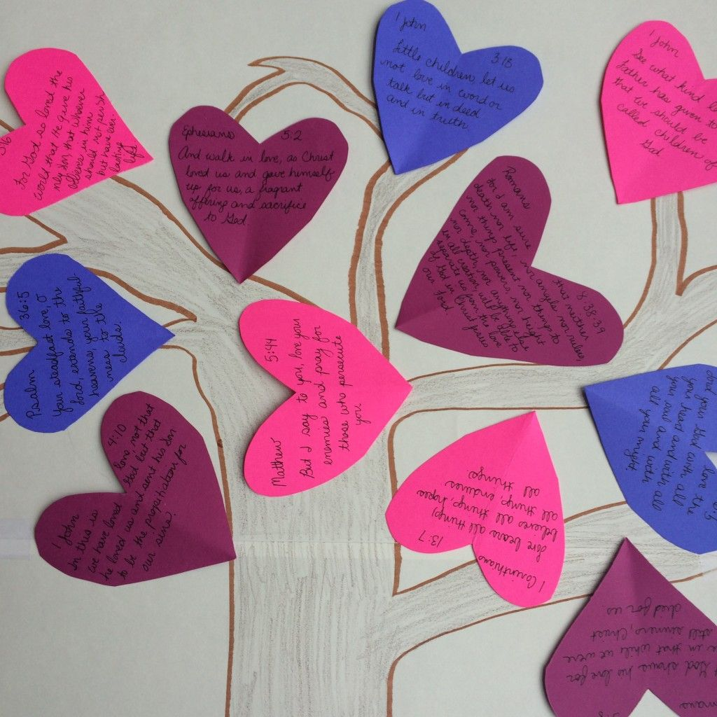Our Valentine S Day Tree With Verses