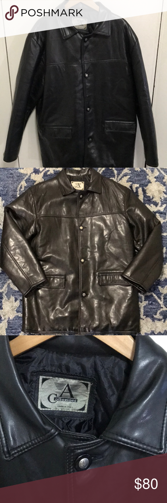 Italian leather jacket A Collezioni leather jacket made in