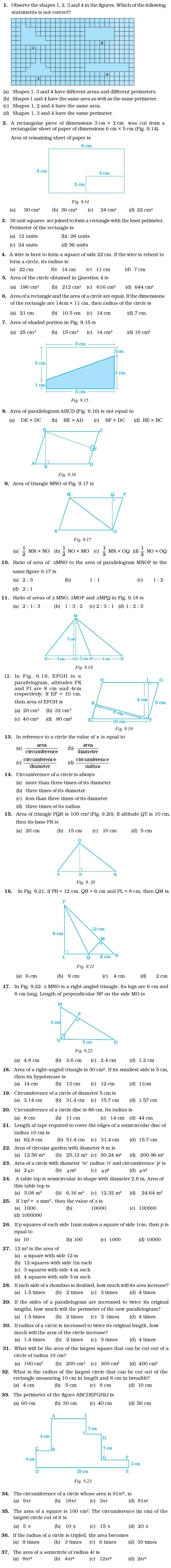 Class 7 Important Questions For Maths Perimeter And Area Math This Or That Questions Class [ 5546 x 606 Pixel ]