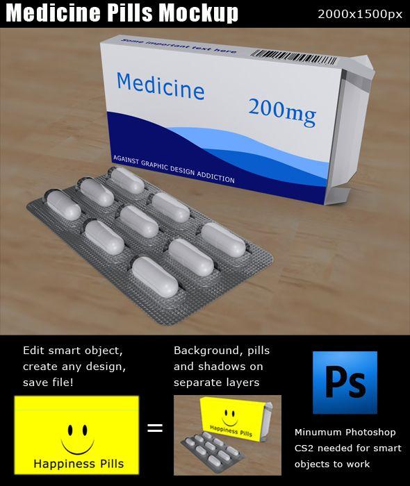 Download Free Medicine Pills Mockup Psd Medicine Box Design Medicine Mockup Psd