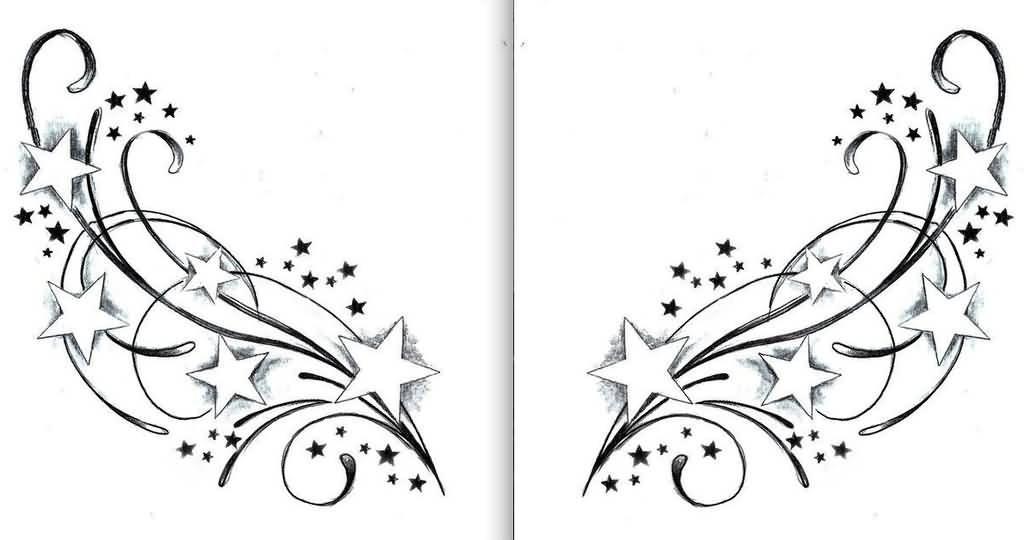 Swirl Star Tattoos Designs Tatuajes Rosas Y Calaveras Sellos Claros Dibujos Psicodelicos