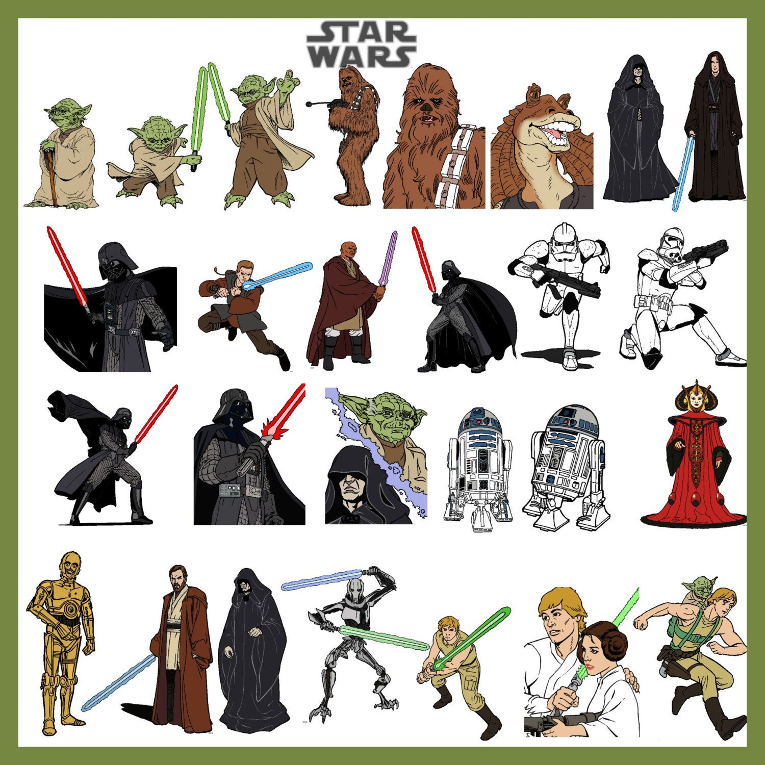 Crafty image pertaining to printable star wars characters