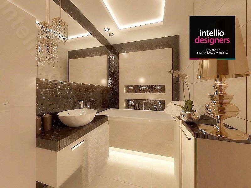Glamour łazienka Stylowa Złota Lampa Luksusowa łazienka
