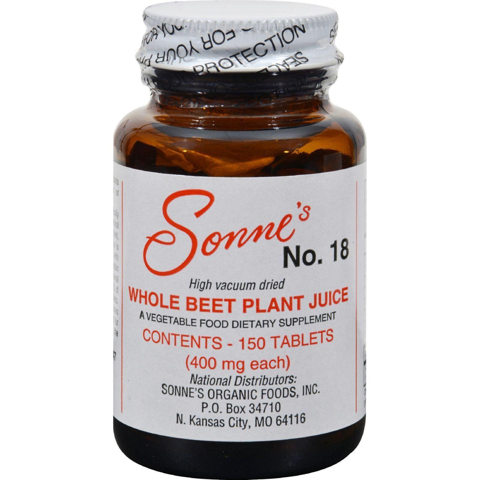 Sonneus Whole Beet Plant Juice No Mg Tablets Beet