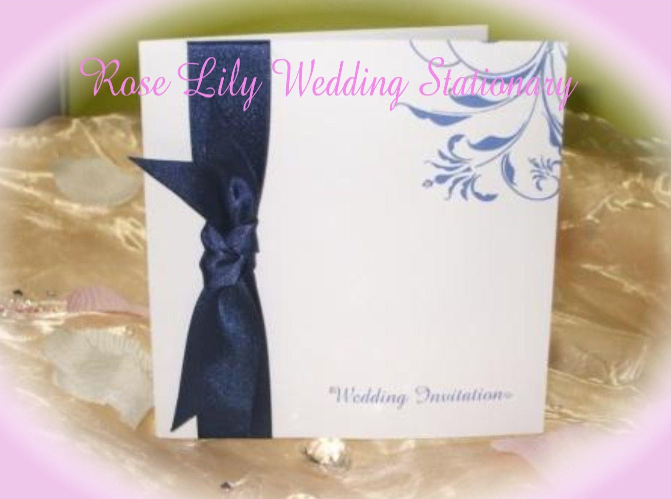 Flourishing - matching ribbon and flourish wedding invitation ...