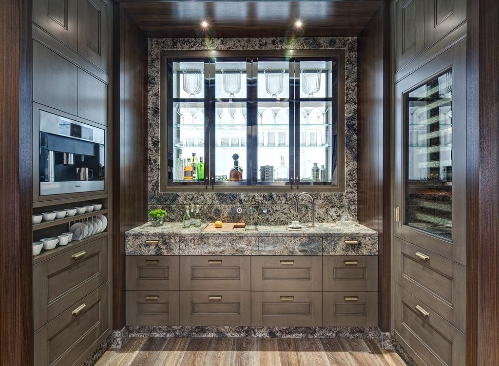 Stunning Kitchen Design With Integrated Topbrewer Coffee Machine Iphone Control Marble