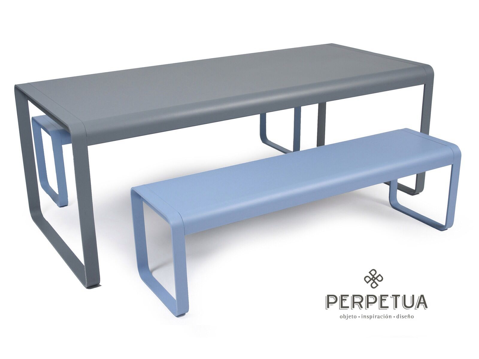 Perpetua muebles #perpetua #muebles #aluminio #mesa #electropintado ...