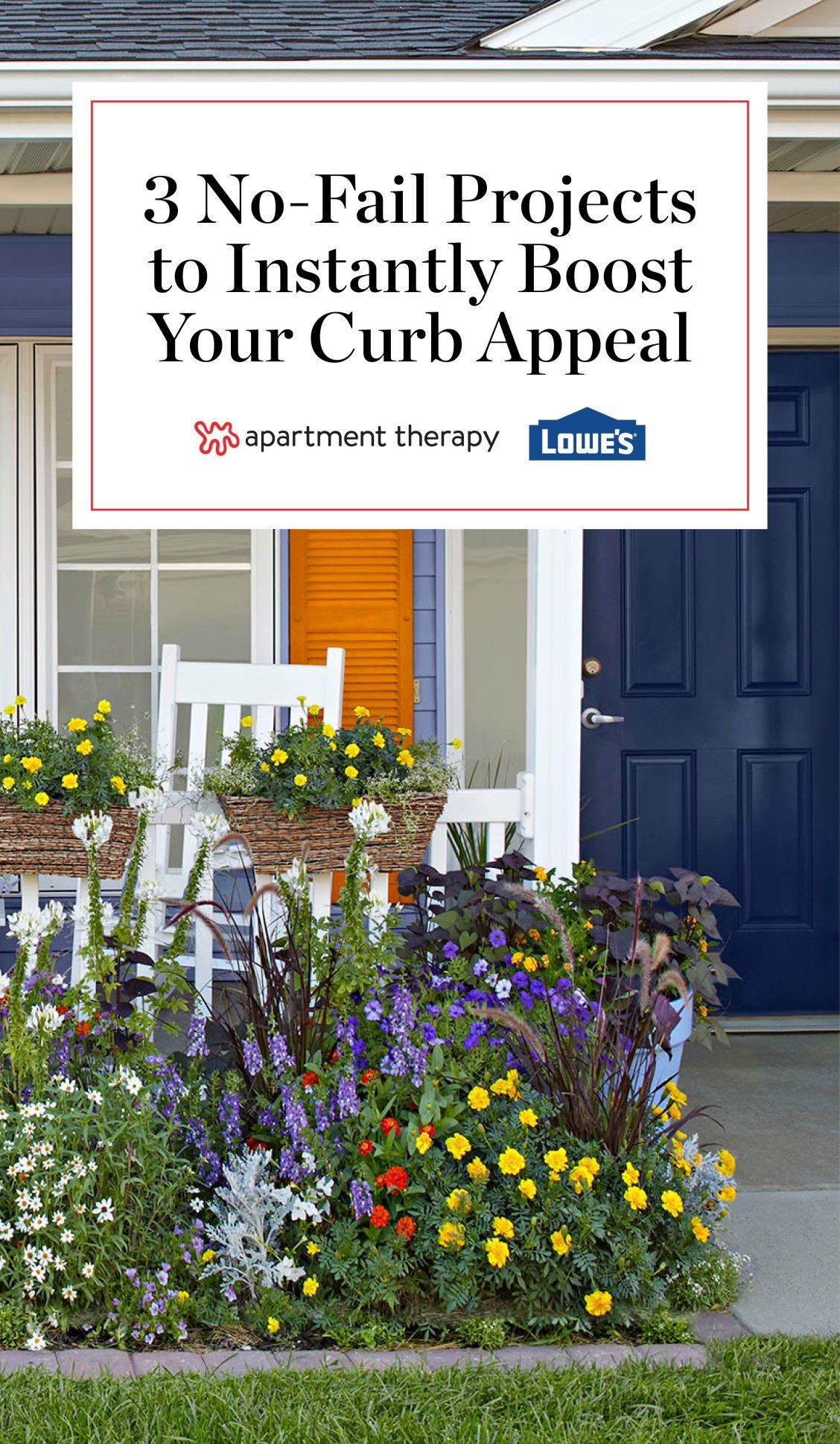 Spring Refresh 3 No Fail Projects To Boost Your Curb Appeal Curb Appeal Front Door Landscaping Painting Shutters