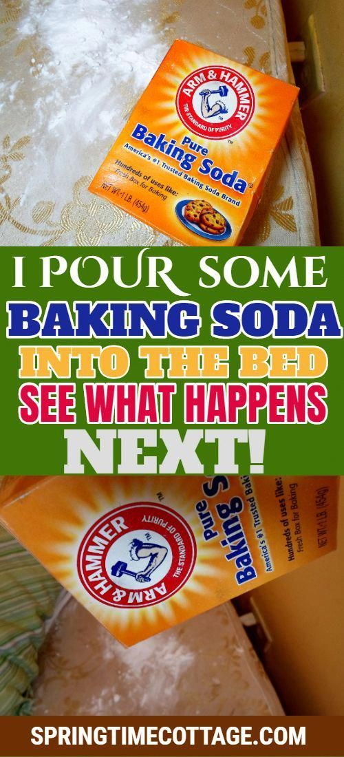 Baking soda is the best and one of the most versatile product you will have in your home. there are so many things you can do with this. From baking, drinking, cleaning, beauty treatment, and the list goes on. Now see what happens when you pour some baking soda into your bed. soda is the best and one of the most versatile product you will have in your home. there are so many things you can do with this. From baking, drinking, cleaning, beauty treatment, and the list goes on. Now see what happens when you pour some baking soda into your bed.