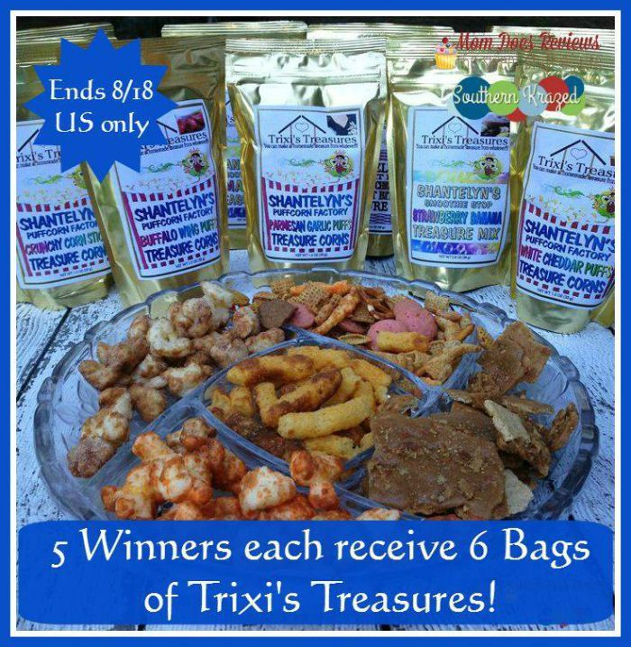 #Win 6 Bags of Trixie's Treasures Snack Mixes! 5 WINNERS! #Review #Giveaway