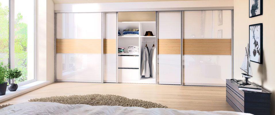 die schiebet ren nach ma aus wei em glas wei und einer. Black Bedroom Furniture Sets. Home Design Ideas