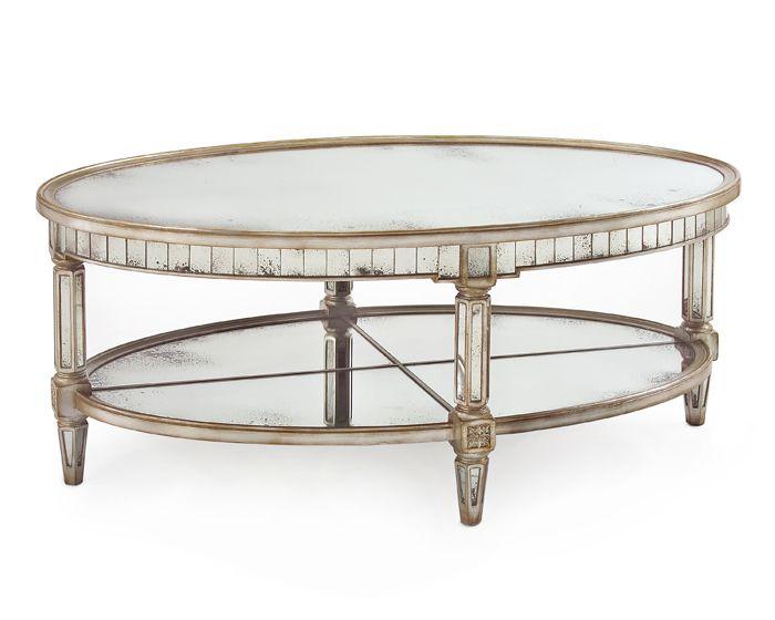 John Richard Website Mirrored Coffee Tables Silver Coffee Table Oval Coffee Tables