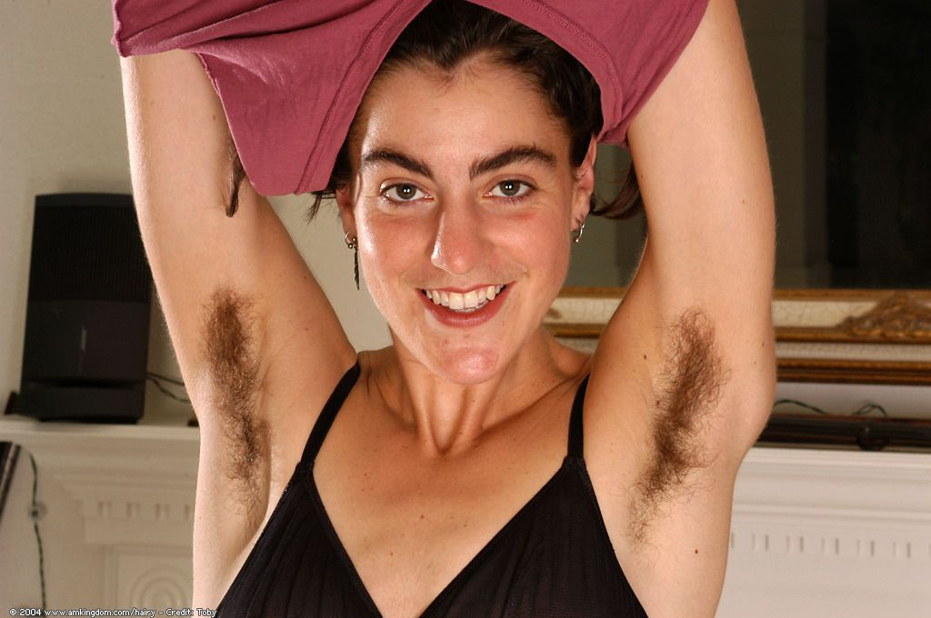 Girl with hairy shoulders