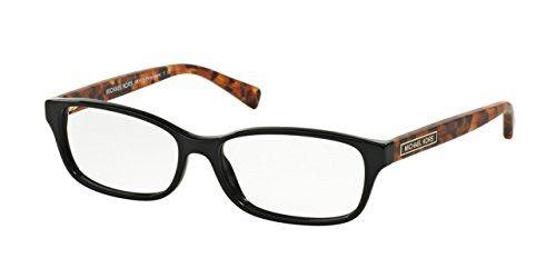 497c3df1aad1 Michael Kors MK4024F Eyeglass Frames 3065-55 - Black Brown Tortoise ...