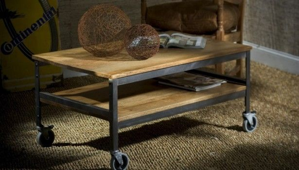 High Quality Furniture Four Wheels Wooden Coffee Table With Shelf And Black Steel Frame  Also Legs Plus Interior Light Brown Brown Rug Wooden Coffee Table With  Wheels ...