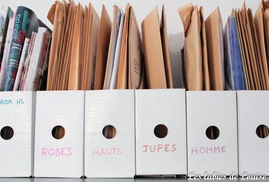 Comment organiser ses patrons ? | Les Lubies de Louise #ateliercoutureamenagement