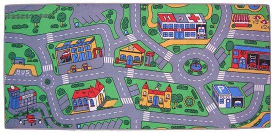Micahs Car Map Rug Halflings Pinterest Map Rug - Kids road map