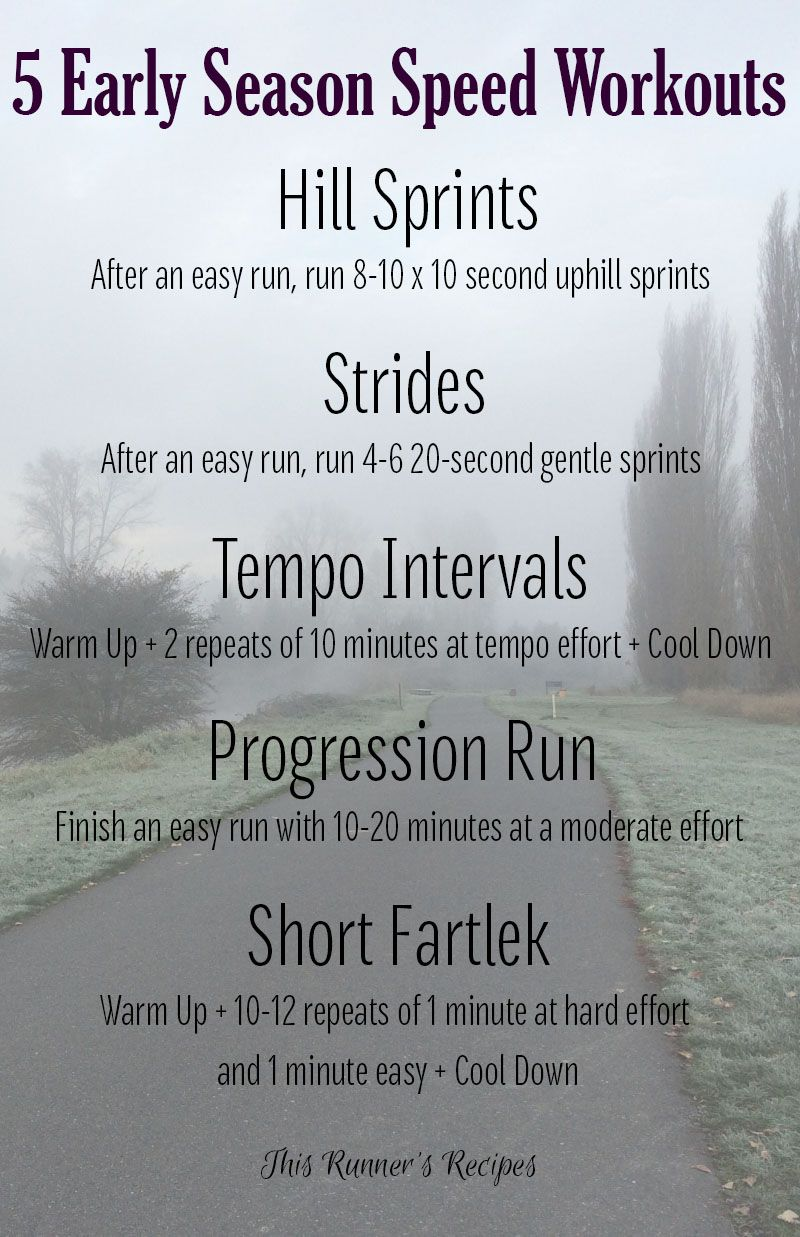 Early Season Running Workouts to Safely Build Speed | Running Tips