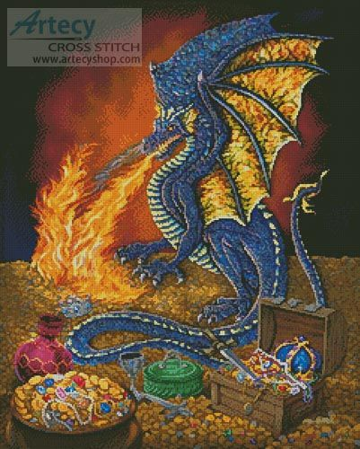 Artecy Cross Stitch Dragons Treasure Cross Stitch Pattern To Print