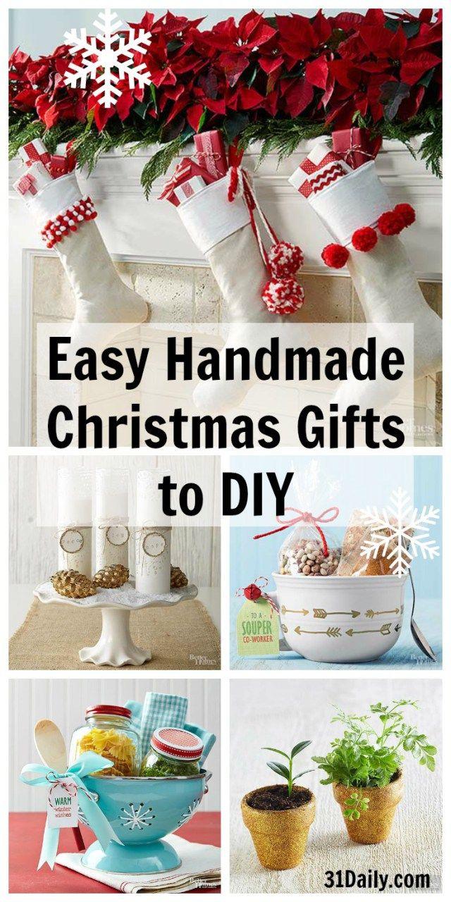 Easy Handmade Christmas Gifts to DIY | Handmade christmas gifts ...