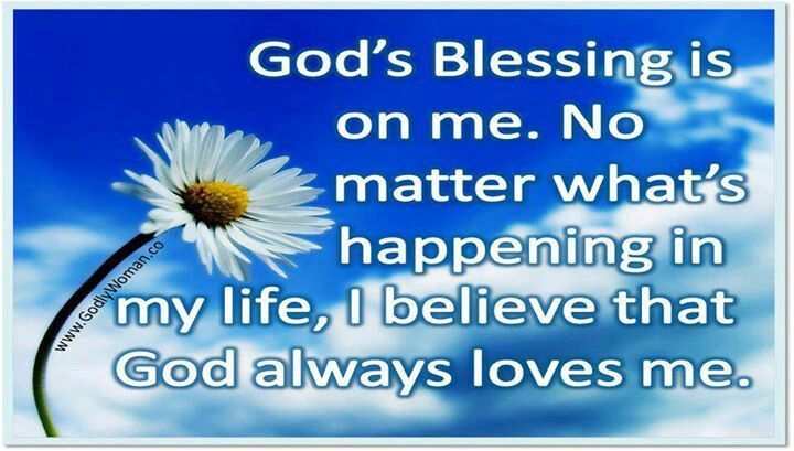 god is blessing me | God's blessing is on me