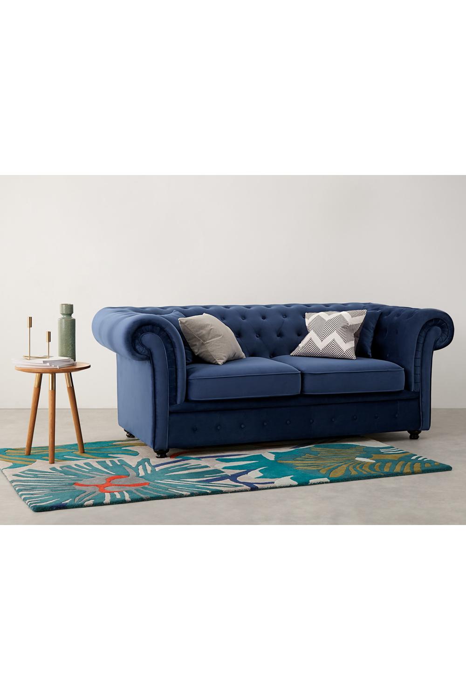 Branagh Schlafsofa Samt In Cyanblau Sofa Sofa Bed Blue Velvet