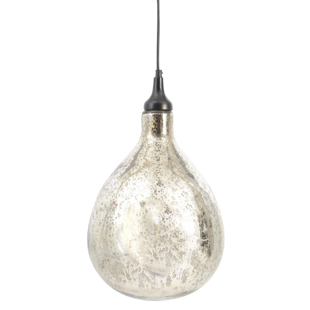 Hanging mercury bubble pendant light perfect for a statement
