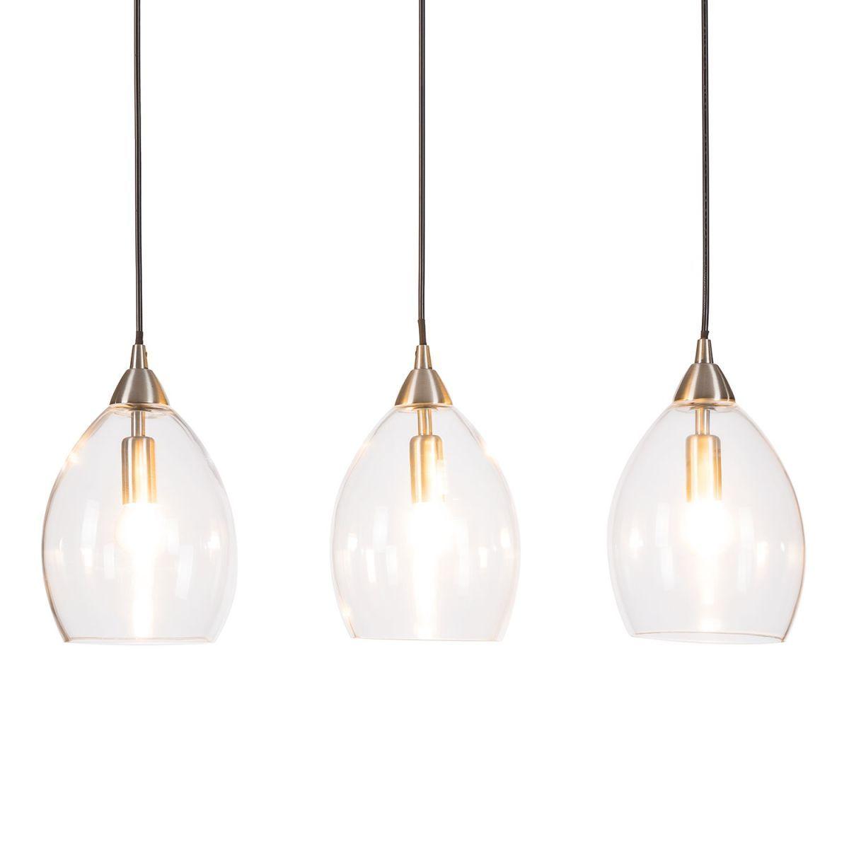 Schön Lampe 3 Flammig Referenz Von Eek A++, Pendelleuchte Vess - Glas /