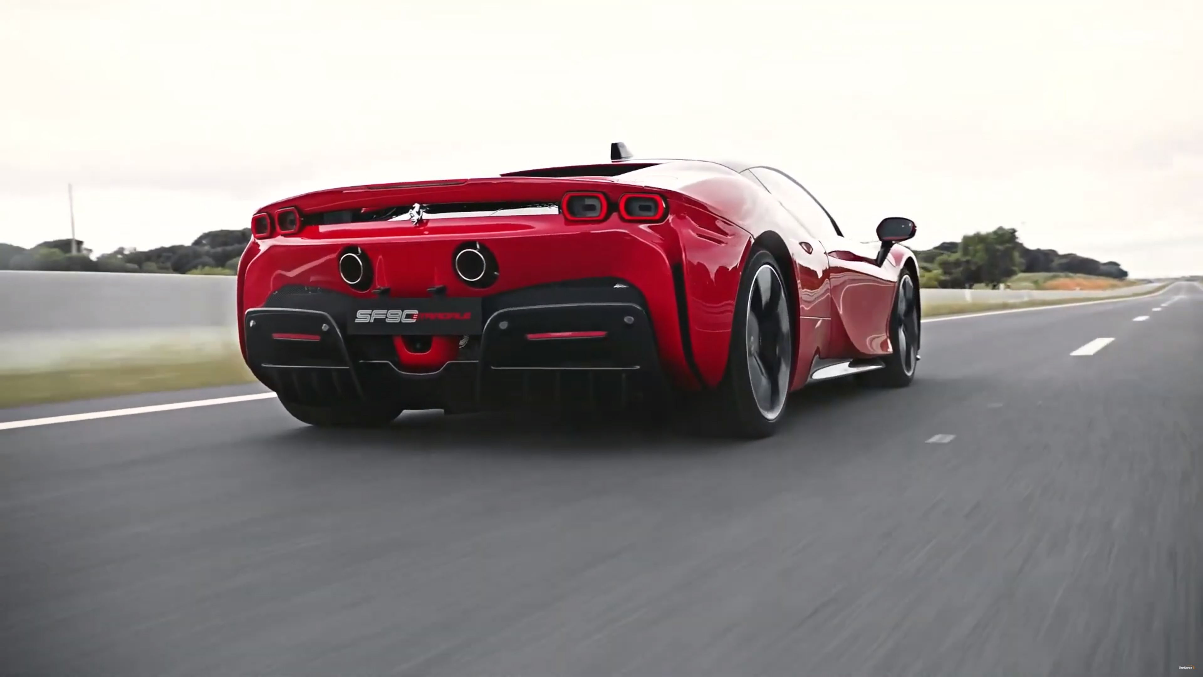 Ferrari Laferrari Supercar Hybrid Race Framed Canvas Art Print Many Sizes