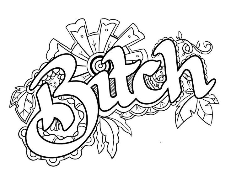 Swear Words Coloring Pages Adult Sketch Coloring Page